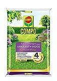 COMPO Rasendünger gegen Unkraut+ Moos Komplett-Pflege, 3 Monate Langzeitwirkung, Feingranulat, 9 kg, 300m²