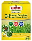 Substral 3 in 1 Komplett Rasendünger mit Unkrautvernichter und Moosvernichter, 3,6 kg für 100 m²