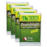 Profigreen 30 kg Rasendünger mit Langzeitwirkung (4 x 7,5 kg-Vorteilspack) mineralisch organisch Langzeitdünger
