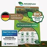 Natureflow Premium Organischer Herbstrasendünger - 20kg Bio Rasendünger Herbst für einen Kräftigen, Winterfesten, Gesunden Traumrasen - NPK Dünger 6+1+9 für Strapazierfähigkeit und Winterhärte