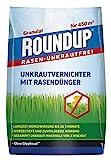 Roundup 8690 Rasen-Unkrautfrei Rasendünger, 2in1, Unkrautvernichter plus Dünger mit 100 Tage Langzeitwirkung, 9 kg für 450 m²