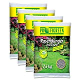Rasendünger mit Eisen (4 x 7,5kg) VERSANDKOSTENFREI Eisendünger Langzeitdünger Raseneisen Gartendünger Langzeitwirkung