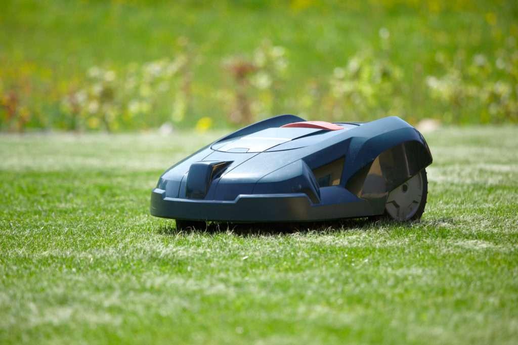 Rasenroboter im Garten